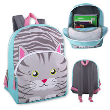 Kids Cat Kitten Kitty Backpack School Bag With Reinforced Straps For Boys Girls