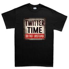 Tiempo de Twitter no molesten señal de advertencia Tweet seguir para hombre Camiseta Camiseta Top