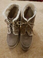 Head Over Heels By DUNE suede Ankle Boots With Heels. Beige Size 6