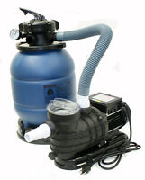 """12"""" Sand Filter & 2880GPH Water Pump System for Intex Above Ground Swimming Pool"""