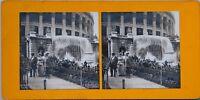 Trocadéro Cascade Parigi 1900 Expo Universale Foto Stereo Vintage Analogica
