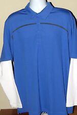 Nike Dri-Fit Long Sleeve Polyester Spandex Polo Shirt Men's XL