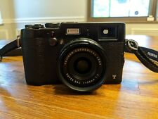 Fujifilm X100T 16 MP Digital Camera - Black plus spare battery and charger