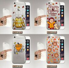 Cover for , Samsung, Clear, Silicone, Soft, Autumn, Leaves, Sweatshirt, Cute