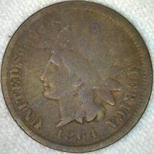 1864 Indian Head Bronze Cent Penny 1c US Type Coin Good K105