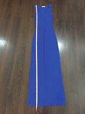 Blue Bodycon Ribbed Long Tank Summer midi Maxi Dress