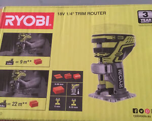 Ryobi One + 18v 1/4 ins Trim Router.  Brand New (Body Only No Battery)