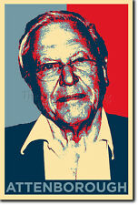 DAVID ATTENBOROUGH ART PHOTO PRINT (OBAMA HOPE) POSTER GIFT