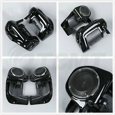 Lower Vented Leg Fairing + 6.5'' Speakers w/ Grills For Harley Touring 1983-2013