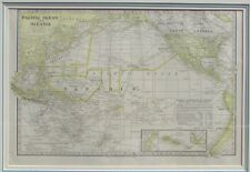 1899 Pacific Ocean & Oceania Map - J Martin Miller Chicago, Illinois Print