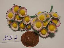 1:12 Scale 20 Daisies Paper Flowers Doll house Miniatures garden  DD7