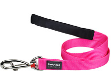Red Dingo Dog/Puppy Lead - Classic Hot Pink - FREE P&P