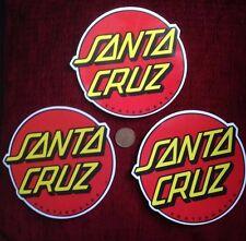 SANTA CRUZ 3 x Transparent Skateboard Stickers Classic Dot 6 inch across