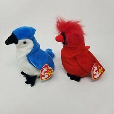 Ty beanie babies lot of 2 birds Plush animal mac rocker blue Jay robin