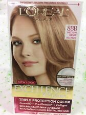 L'Oreal Excellence Crème Hair Color 8BB Medium Beige Blonde NEW.