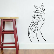 Girl Beautiful Hands Room Home Decor Removable Wall Stickers Decals Decoration