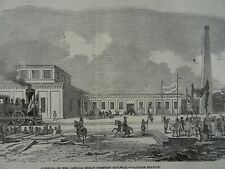 Canada London Station OPENING OF THE GREAT WESTERN RAILWAY Victorian Print 1854