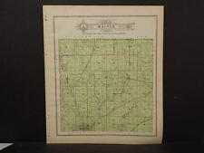 Wisconsin Fond Du Lac Couny Map Waupun Township 1910 J11#40