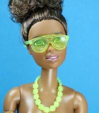 Barbie Transparent Yellow Sun glasses Necklace 2016 Fashionista Separates