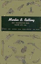 Martin B. Retting 1953 Collector Gun Catalog with Prices (Culver City, CA)