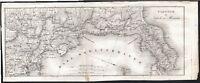 Carta Postale-Viaggio da Napoli a Messina-Vallardi-1832