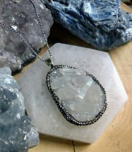 Angel Aura cluster  Necklace Pendant crystal Healing Spiritual support