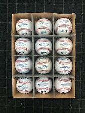 12 MLB Used Rawlings Official Major League Baseballs CLEAN SWEET SPOTS - Lot 2