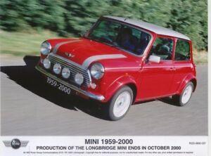 Mini 1959-2000 End of Longbridge production original colour Press Photo No. 037