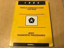 1994 Chrysler Jeep ++ vehicle communications CCD BUS DIAGNOSTIC PROCEDURE MANUAL