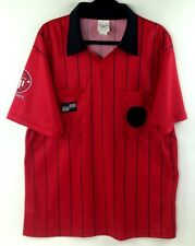 Official Sports Int'l USSF Soccer Fed Referee Jersey Red S/Sleeve Shirt Sz L