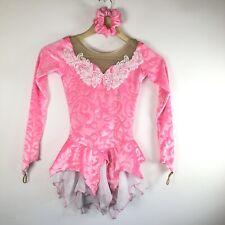 Elite Xpression Pink Ice Figure Skating Dress  Girls 12/14