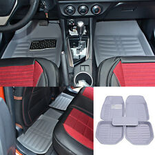 5pcs Floor Mat Fit For Universal Most Car FloorLiner Carpet  All Weather Grey