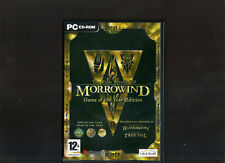 MORROWIND GAME OF THE YEAR EDITION. SUPERB RPG FOR THE PC. ORIGINAL VERSION!!