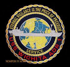 USS WICHITA AOR-1 PATCH SEA WITCH NS FLEET OILER PIN UP QUILT GIFT US NAVY