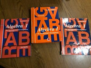 Saxon Algebra 1 Teachers Edition, Homeschool Packet, Manual 3rd Edition Set of 3