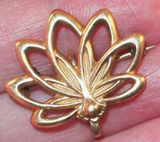 Fanned Petals Flower Watch Pin Brooch Antique Victorian Rose Gold Filled Floral