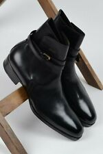 NEW Max Verre handmade leather belted ankle jodhpur boots UK 10 EU 44 US 11