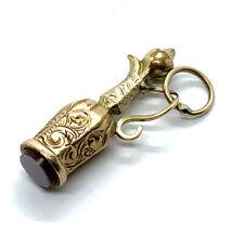 Antique Victorian 9ct Gold Claret Jug Seal Charm #18