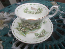 ROYAL ALBERT Flower of the month series peut, tasse et soucoupe,