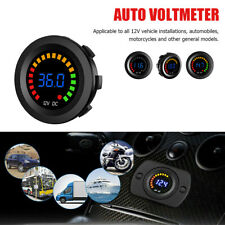 LED Digital Color Display Voltmeter Volt Panel Meter for DC 12V Car Motorcycle