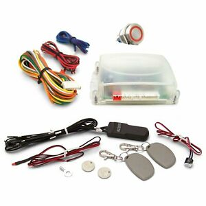 One Touch Engine Start Kit with RFID - Red illuminated Button hot rods