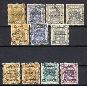 PALESTINE , 1918 , 1920 , 1922 ,  FOURTIMES 20 PIASTER and much more , USED !