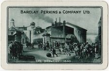 Playing Cards 1 Swap Card Old BARCLAY PERKINS Beer Ale BREWERY 1840 Horse Horses