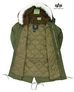 Fishtail Parka Genuine Original US Alpha Industries M65 Jacket Hooded Army Coat