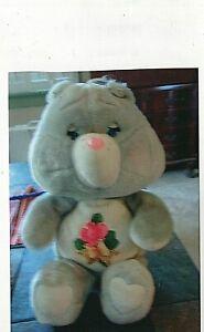 "1983 Vintage Plush Stuffed Care Bear of Grams bear. 14 1/2"" tall."