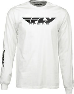Fly Racing Corporate Long Sleeve T-Shirt White XL