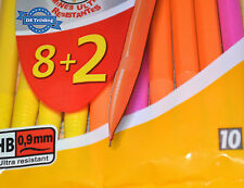 Pack of 10 BIC Matic Strong Mechanical Pencils 0.9mm HB Lead Mixed Colours