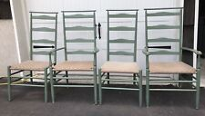 Nichols and Stone Co. Ladderback Chairs w/ Woven Seats, Set Of 4 (four)