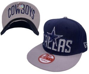 Dallas Cowboys New Era 9Fifty NFL Snapback Flat bill Hat, Cap. Blue NEW