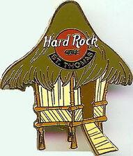 Hard Rock Cafe ST. THOMAS 1999 Bamboo HUT w/ Green Roof PIN - HRC Catalog #8947